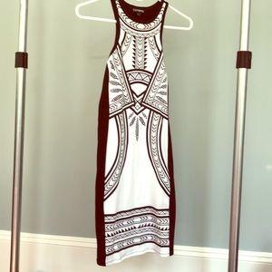 Black and white tribal print dress